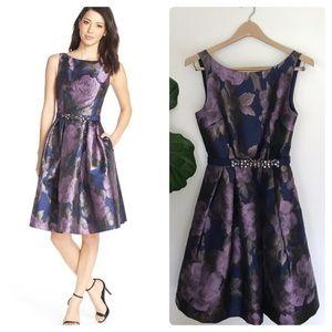 48ab23dbac Eliza J · Eliza J Floral Metallic Jacquard Fit   Flare Dress